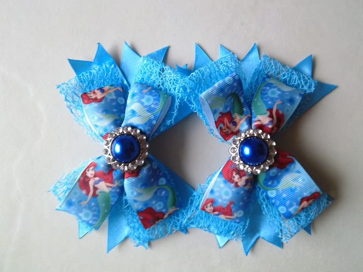 """Boutique bow by Bubblegum Treehouse in """"My Little Pony"""" blue theme"""