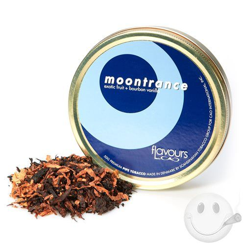 CAO Moontrance pipe tobacco is a mellow aromatic blend of Black Cavendish enhanced by exotic fruit, vanilla, and (tasty, tasty) bourbon. Dee-lish.Many may not realize this, but CAO entered the market through pipes and pipe tobacco. Surprised? If not, you've been in this game for some time and realize the quality, mellow aromatic flavors CAO Pipe Tobacco yields. If you are surprised, CAO Pipe Tobacco is a great way to get better acquainted with the pipe world. CAO Pipe Tobacco is a tasty ...