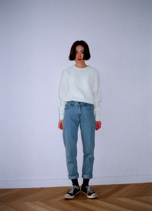 Plain Jeans with plain white shirt - Normcore Style - #normcore 2014