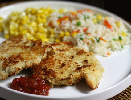 These turkey cutlets are oven-fried with a crispy panko and Parmesan coating. This recipe makes an easy meal for any night of the week.
