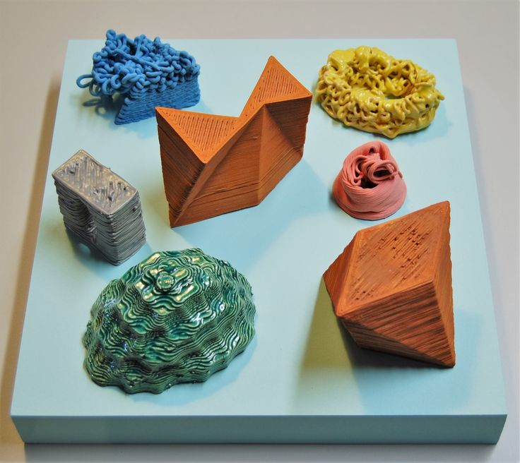 """Studies for """"Assembly Language"""" 3D printed clay, 2016"""
