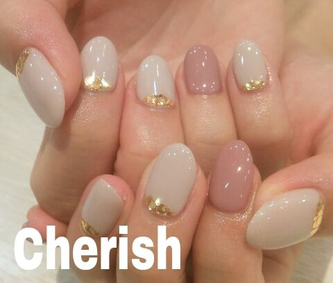 グレージュ×ボルドー♪|☆ネイルサロン Cherish☆ |Ameba (アメーバ)
