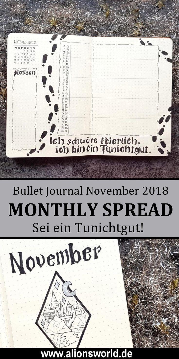 Bullet Journal November 2018 Harry Potter Und Das Bullet Journaling Bullet Journal Aufbau Bullet Journal Harry Potter Journal