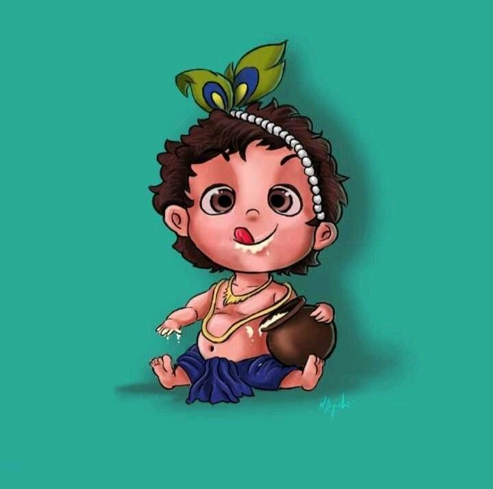 Pin By Sarika Deb On God Pictures Cute Krishna God Illustrations Little Krishna
