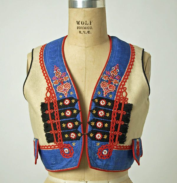 Ensemble Date: 1800–1939 Culture: Czech Medium: wool, silk, cotton