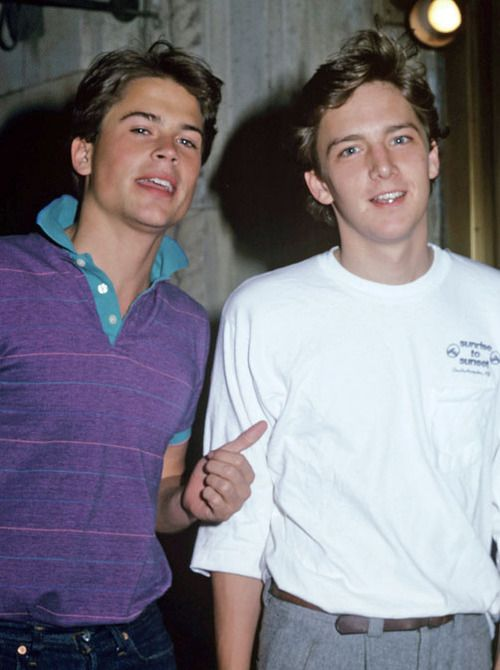 Rob Lowe and Andrew McCarthy. The hottest thing that happened to the 80's.