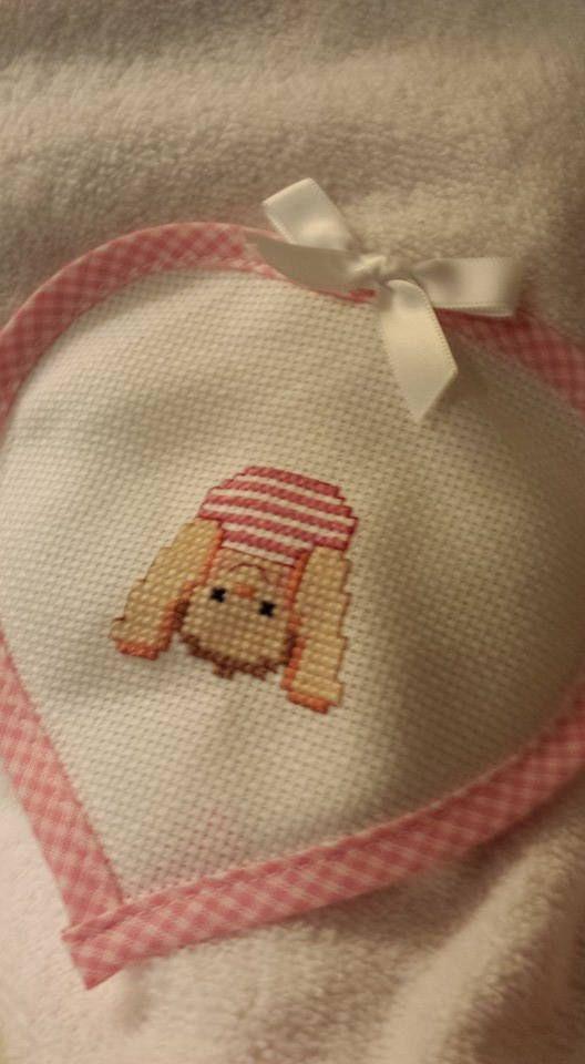 accappatoio neonato rosa di LecoccoledinonnaAdy su Etsy