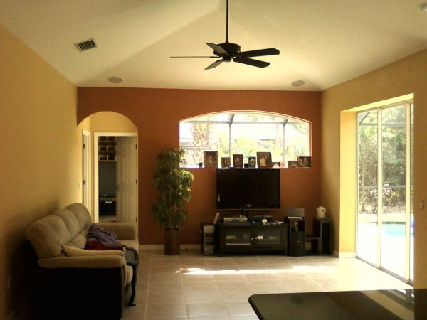Earth tone color schemes for living room flooring - Painting options for a living room ...