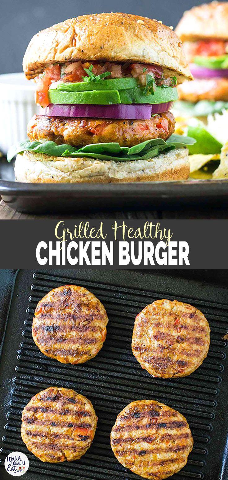 Southwest Grilled Ground Chicken Burger