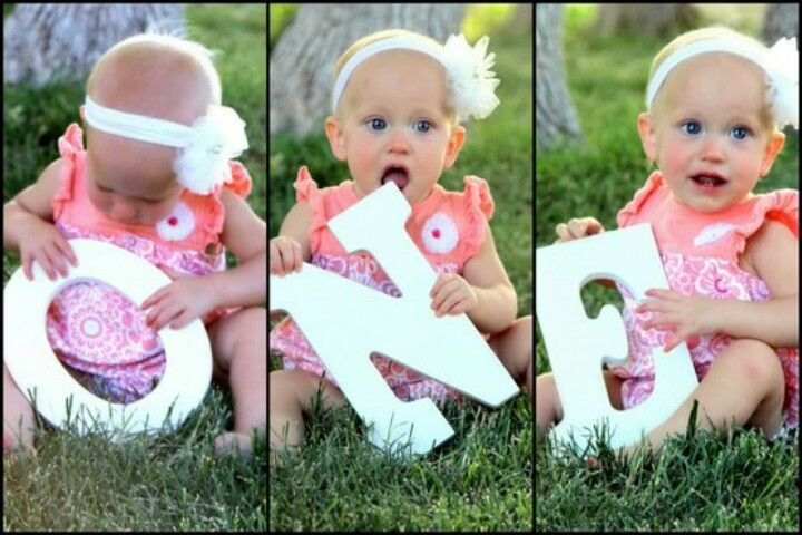 Cute idea for a First birthday invitation or photo session - girl or boy!