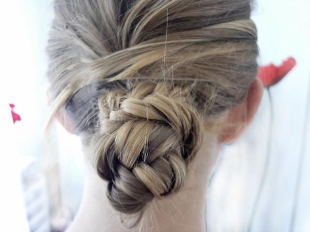 fishtail bun: Fishtail Bun