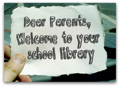 What to put in your welcome back letter for parents so they know about all the great things happening in the library. Great advocacy. SLJ
