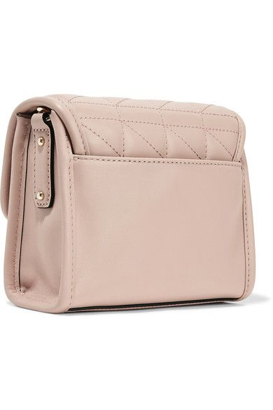 Karl Lagerfeld - K/kuilted Mini Leather Shoulder Bag - Blush - one size