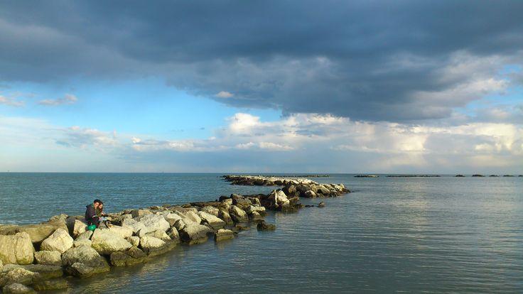 Cesenatico. Porto canale. Spiaggia.