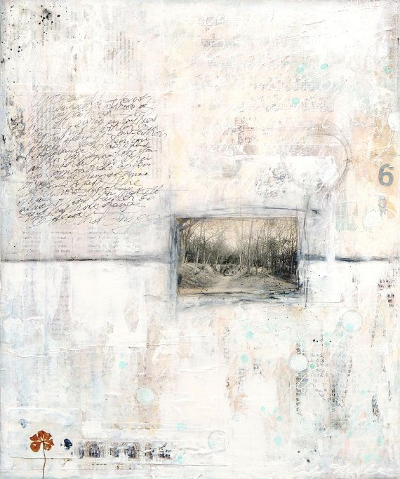 Winter Song 1 original mixed media painting by Laly by LalyMille, €420.00