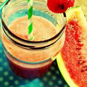 Recept na smoothie z vodního melounu - výčet potřebných surovin, postup přípravy, přehled nutričních hodnot, vitamínů, minerálů a stopových prvků