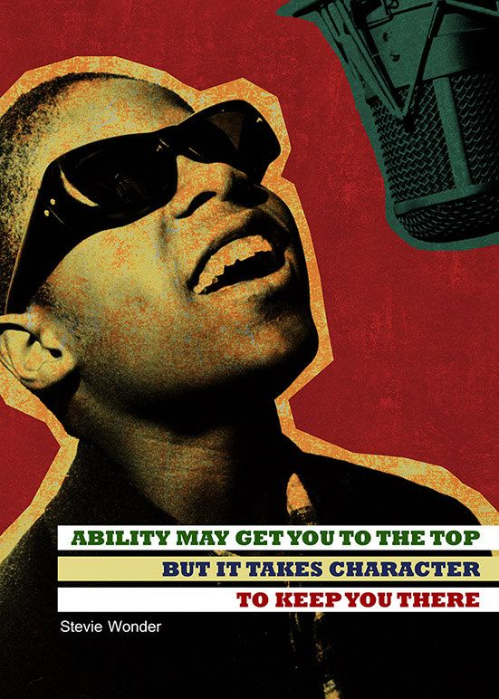 """Stevie Wonder printable instant download poster - good for decorating any interior - either in your homes and offices or in your shops, cafes, bookstores, dorms, etc. By pahleeloola. Use the coupon code, """"PIN10"""" for 10% off on your entire purchase! Click to buy and print!"""