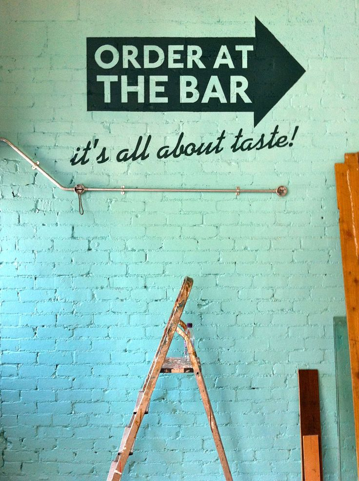 Restaurant and cafe wall art. Ideas and inspiration for decor in bars, bistros ad delis etc.