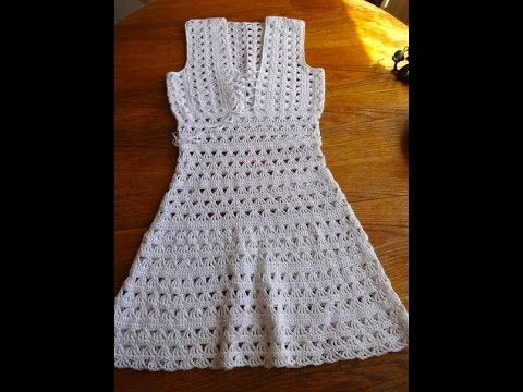 Vestido para mujer tejido a crochet, paso a paso (1 de 3) - YouTube                                                                                                                                                                                 Más