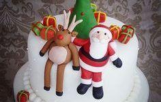 Bolos decorados do Pai Natal