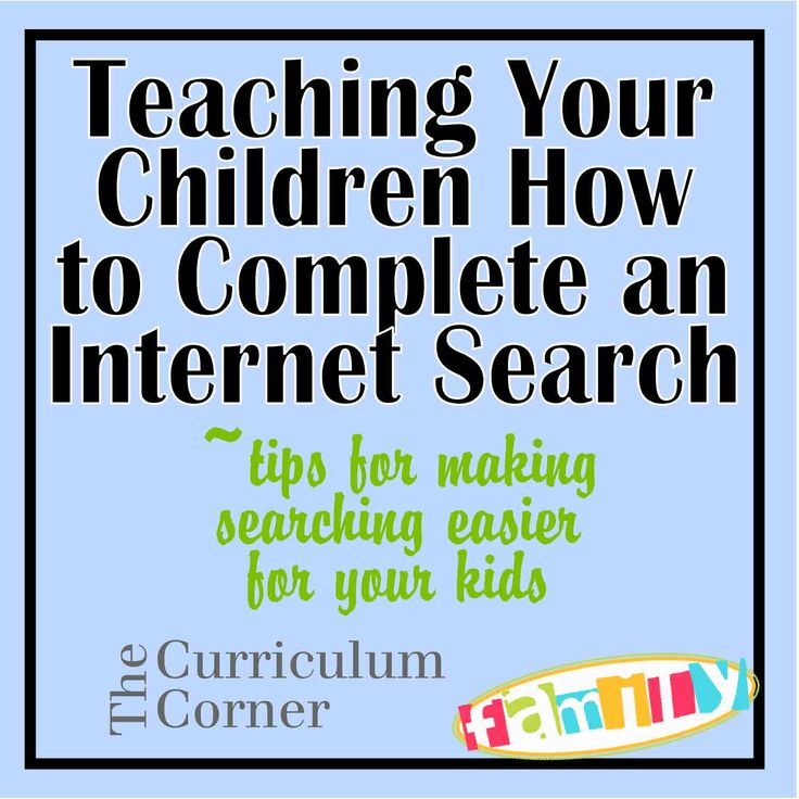 Helping your children learn how to complete an internet search - great tips for assisting students!