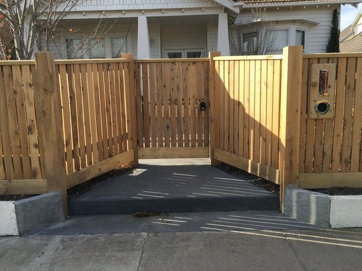 Front picket fence single gate, steel frame, pedestrian gate, ring latch