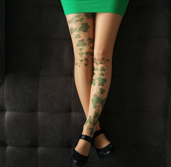 7759b93bcda Poison Ivy Tattoo Tights