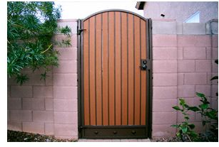 Iron and Wood Gates Design | US Pool Fence Wood and iron Gate Products