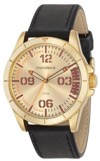 87cf8e1d092 76702GPMVDH2 Relógio Masculino Mondaine Pulseira de Couro Analógico ...