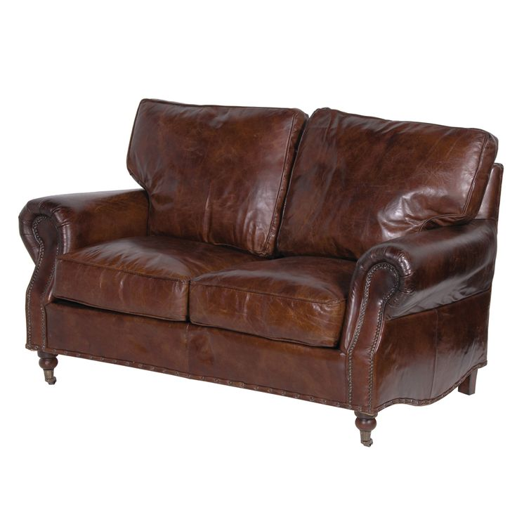 Crumple Leather Sofa Two Seater Whats Not To Love, The Quintessential  Vintage Leather Sofa,