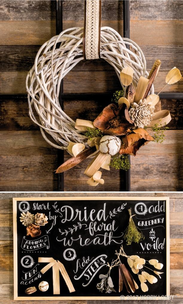Dried flowers are the perfect way to add texture and dimension to your decor—just add them to a wreath or centerpiece for a wow-worthy display!