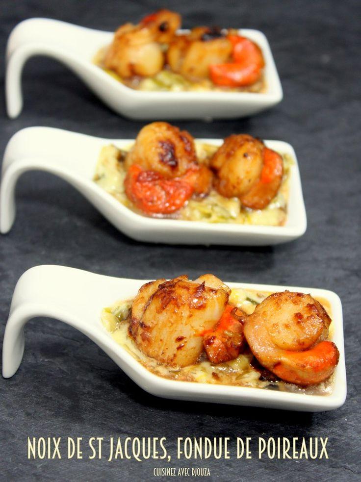 Noix de saint jacques fondue de poireaux - Cuisinez avec Djouza !