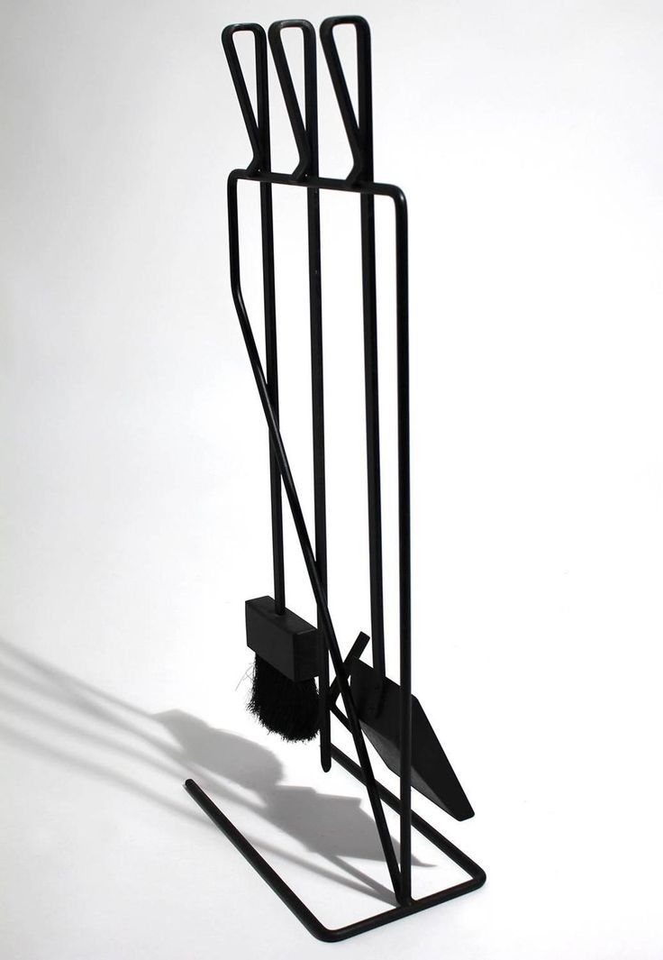 Vintage Modernist Wrought Iron Fire Tools | From a unique collection of antique and modern fireplace tools and chimney pots at https://www.1stdibs.com/furniture/building-garden/fireplace-tools-chimney-pots/