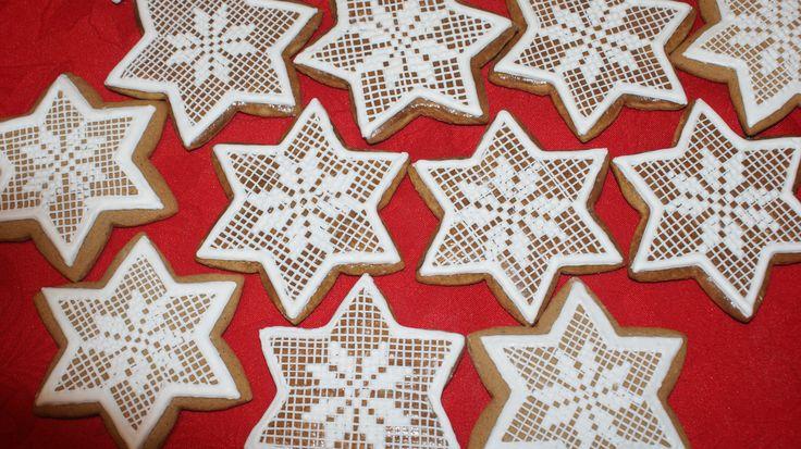 inspirowane Internetem - gwiazdki z piernika, Boże Narodzenie