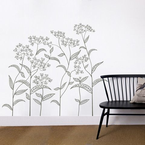 abstract plant vinyl wall sticker in nature by vinyl impression