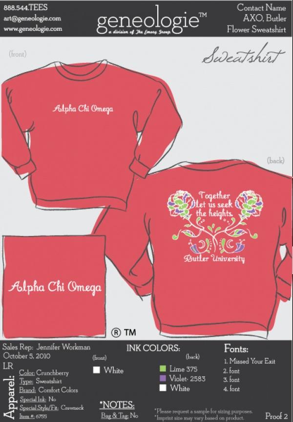 Alpha Chi Omega sweatshirt