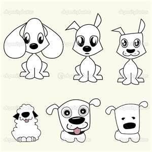 how to draw a cute cartoon dog