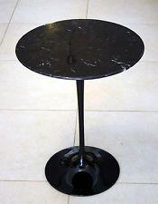 EERO SAARINEN TABLE TULIP SPACE AGE DESIGN VINTAGE MARMO NERO REPRO TAVOLINO NEW