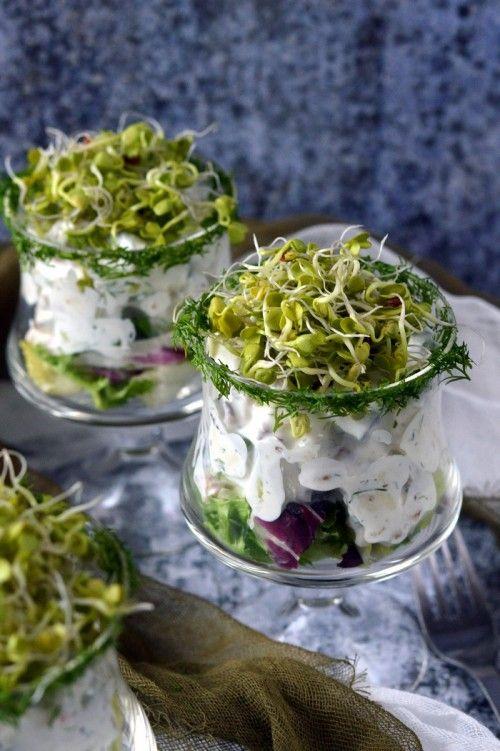 Kapros-csírás sajtkoktél recept