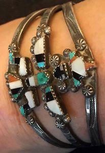 Rare Example Zuni Navajo CG Wallace Shop Little Joe Begay Knifewing Bracelet  | eBay
