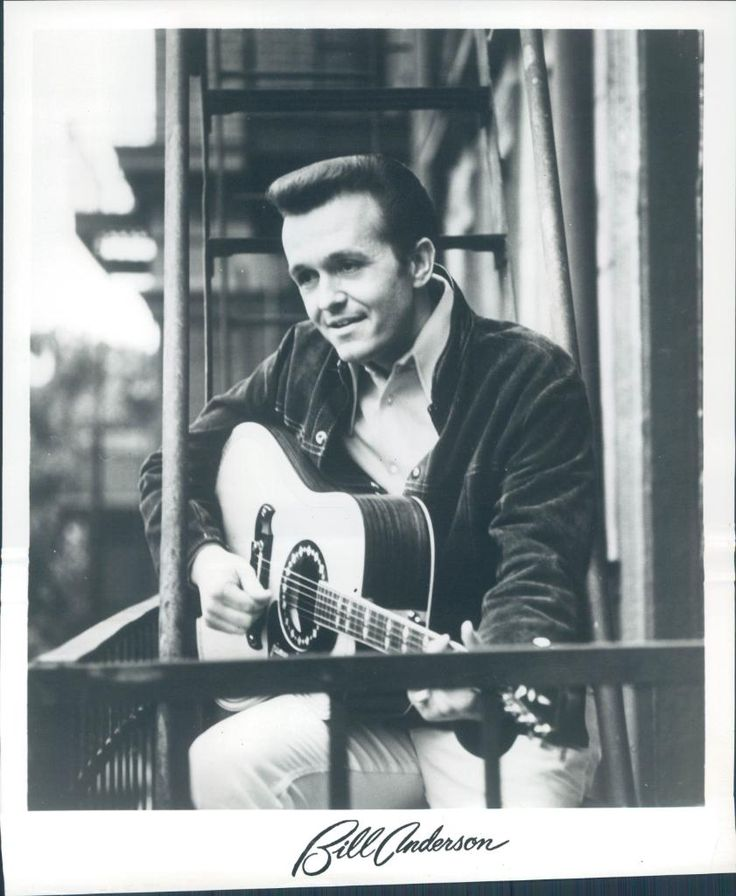 bill anderson country music | Circa 1970 Bill Anderson Country Music Singer Composer Show Guitar