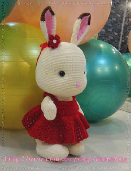 28 Inch Sylvanian Rabbit - PDF crochet pattern. $12.50, via Etsy.