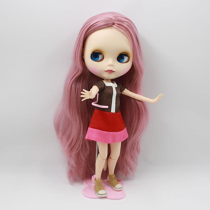 Сладкий ню блит кукла diy макияж розовый длинные волосы в AB блит куклы с совместного органа bjd куклы для девочек подаркикупить в магазине Kids Kiss DollнаAliExpress