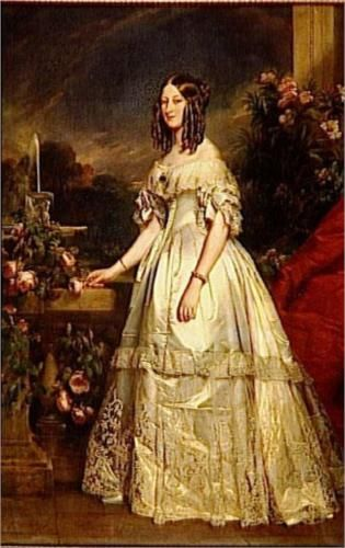 Portrait of Princess Victoria of Saxe Coburg and Gotha - Franz Xaver Winterhalter This is proof I need to paint faster