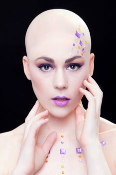 Being Bald is the most amazing form of beauty. it leaves you open and bare to show how amazing you are inside and out!