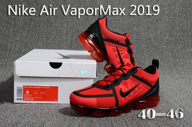 e75b1361e73f Nike Air Vapormax 2019 KPU Red Black Men s Running Shoes Sneakers ...