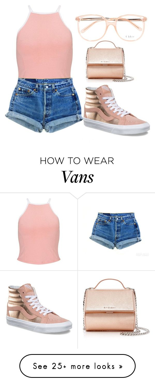 """Untitled #1152"" by itssarahh on Polyvore featuring Miss Selfridge, Chloé, Levi's, Vans and Givenchy"
