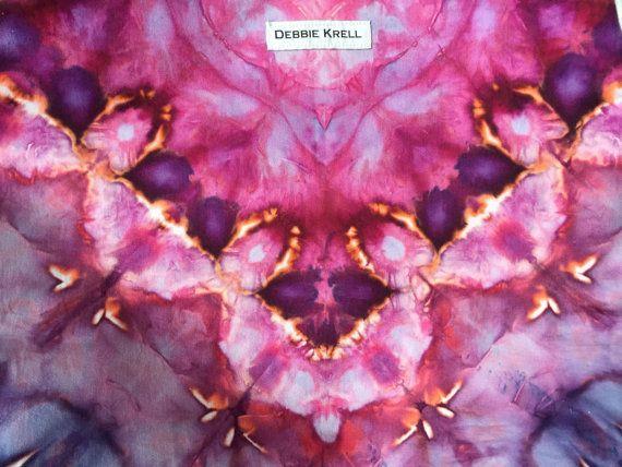 Hand geverfd Crossbody tas roze saffier van DebbieKrell1 op Etsy
