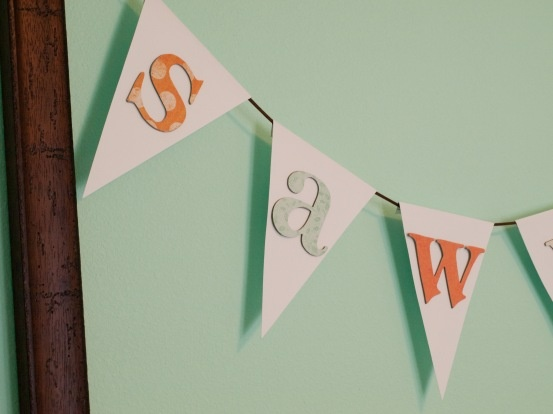 Bunting Name Banner Diy With Free Bunting Template