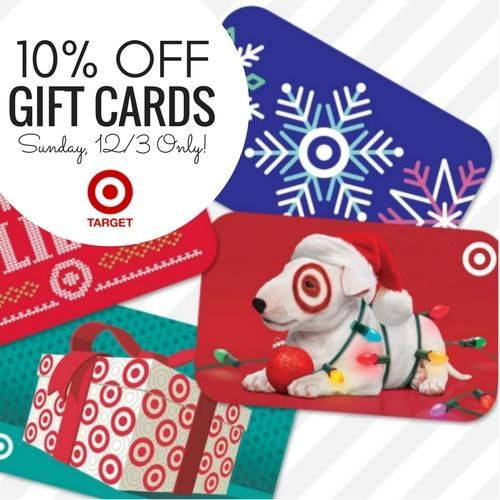 Discounted Target Gift Cards | 10% off Sunday12/3 Only!
